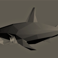 Small Low-Poly Shark 3D Printing 167275