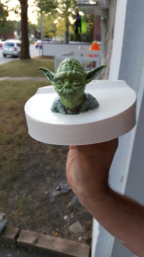 Medium Yoda - Star Wars Headphone Stand 3D Printing 167431