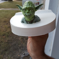 Small Yoda - Star Wars Headphone Stand 3D Printing 167431