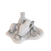 Small HG3D Clay Pottery - 28mm 3D Printing 167471
