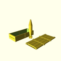 Small Ammo Crate plus shell 3D Printing 167562