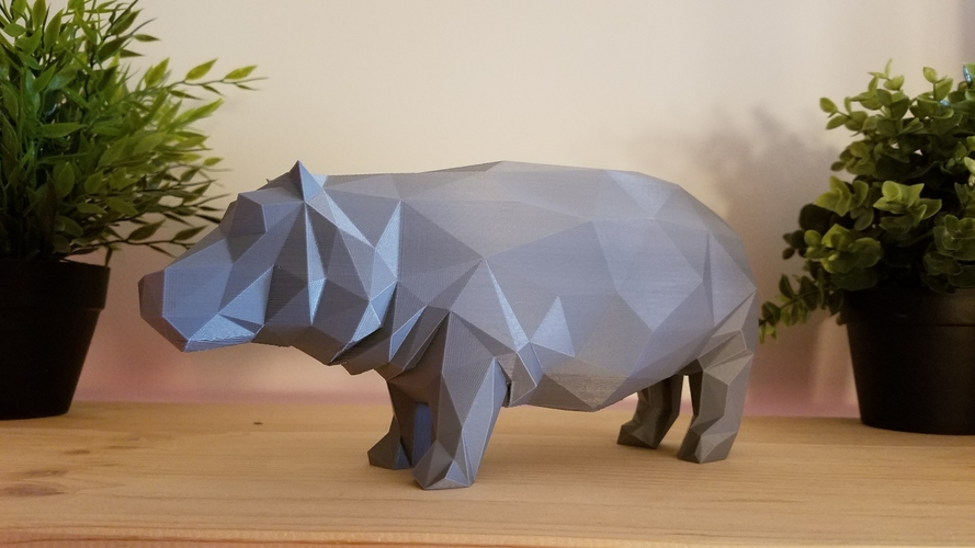 Low-Poly Hippo 3D Print 167847