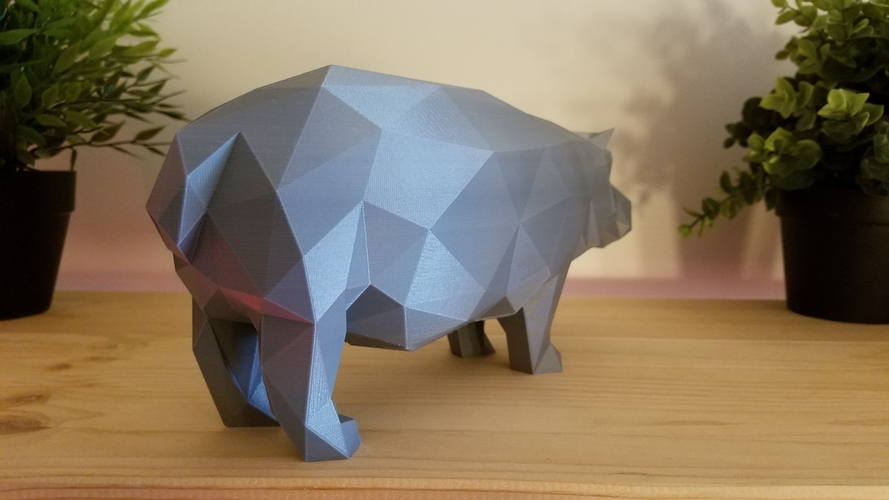 Low-Poly Hippo 3D Print 167849
