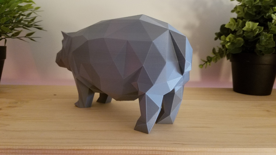 Low-Poly Hippo 3D Print 167850