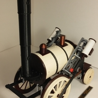 Small 1820 Stephenson Steam Locomotive The Rocket 3D Printing 167888