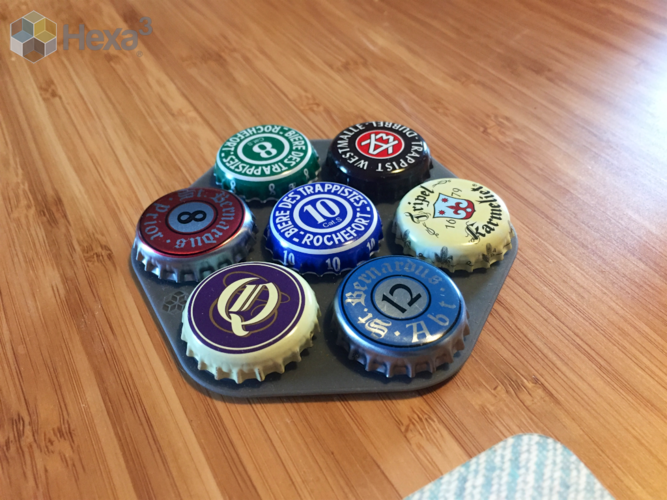 Coaster - Custom Bottle Top 3D Print 167900