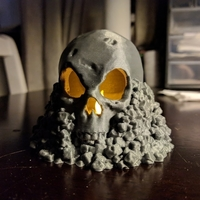 Small Skull on Rocks 3D Printing 168156