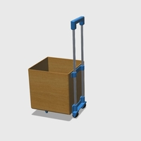 Small Wheelie tote box kit 3D Printing 168206