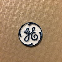 Small GE Logo (General Electric) 3D Printing 168397