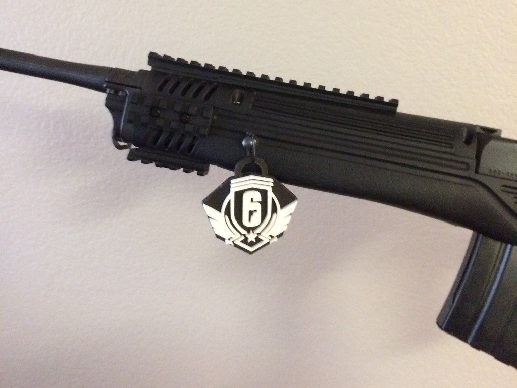 3D Printed Diamond Rank Charm - R6 Siege by Lycan004 | Pinshape