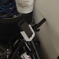 Small Handlebar Mount - iPhone 5 w/ Otterbox Case 3D Printing 168412