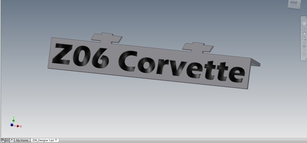 Z06 Corvette Badge for Monitor 3D Print 168431