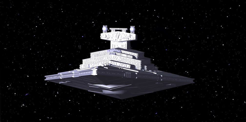 Imperial Cruiser - Star Destroyer (32cm) 3D Print 168529