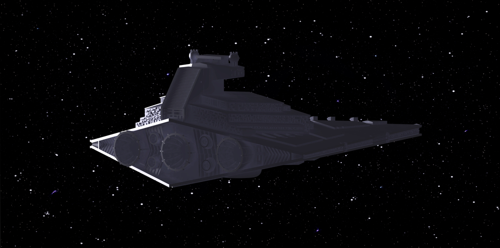 Imperial Cruiser - Star Destroyer (32cm) 3D Print 168531