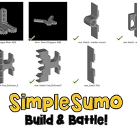 Small Rear Hatch Accessories: SimpleSumo Expansions 3D Printing 168572