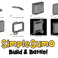 Small Cover Multi-Pack: SimpleSumo Expansions 3D Printing 168573