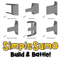 Small Blade Multi-Pack: SimpleSumo Expansions 3D Printing 168574