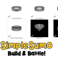 Small Wheels & Tires: SimpleSumo Expansions 3D Printing 168575