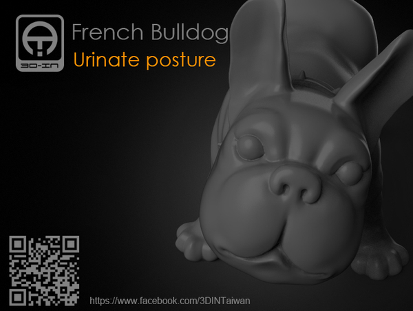 Medium French Bulldog 3D Printing 168808