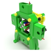 Small  Fully 3D-Printed Rubik's Cube Solving Robot 3D Printing 169186