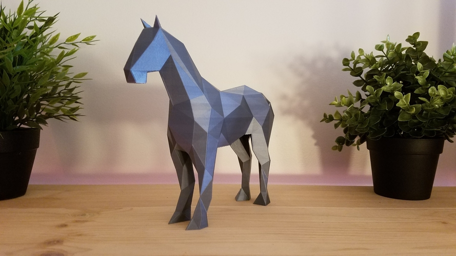 Low-Poly Horse 3D Print 169212