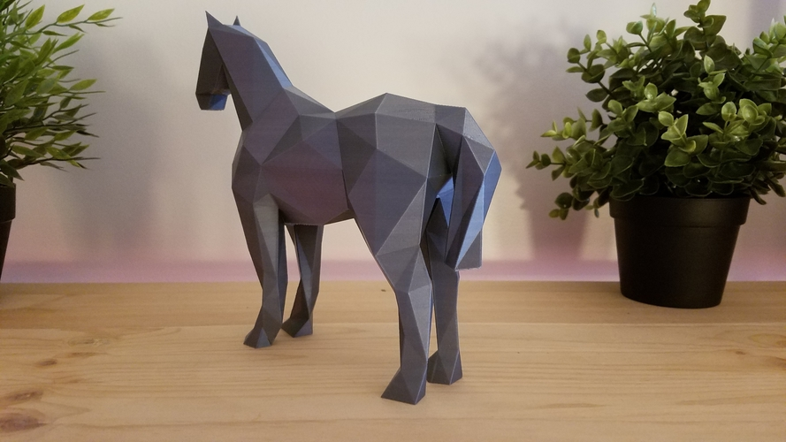 Low-Poly Horse 3D Print 169213