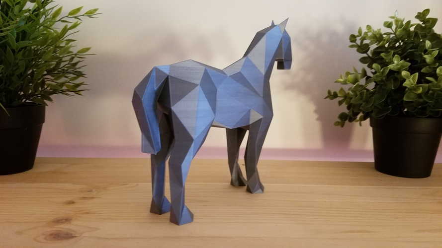 Low-Poly Horse 3D Print 169214