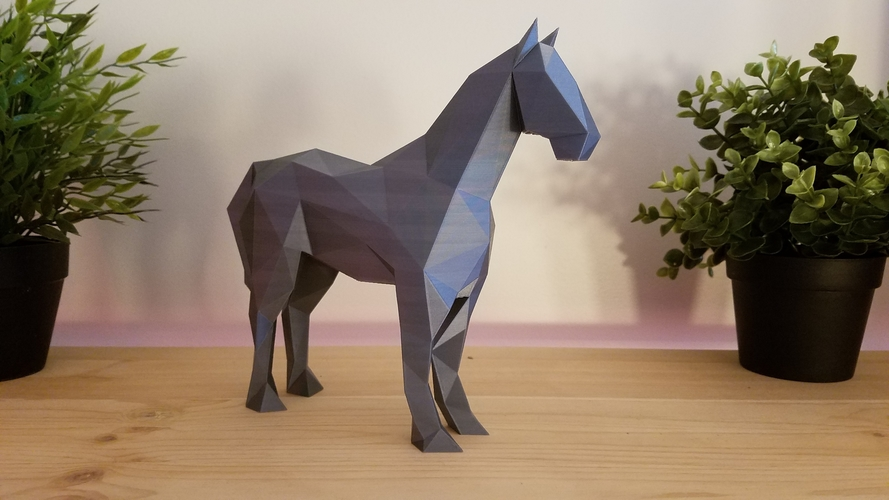 Low-Poly Horse 3D Print 169215