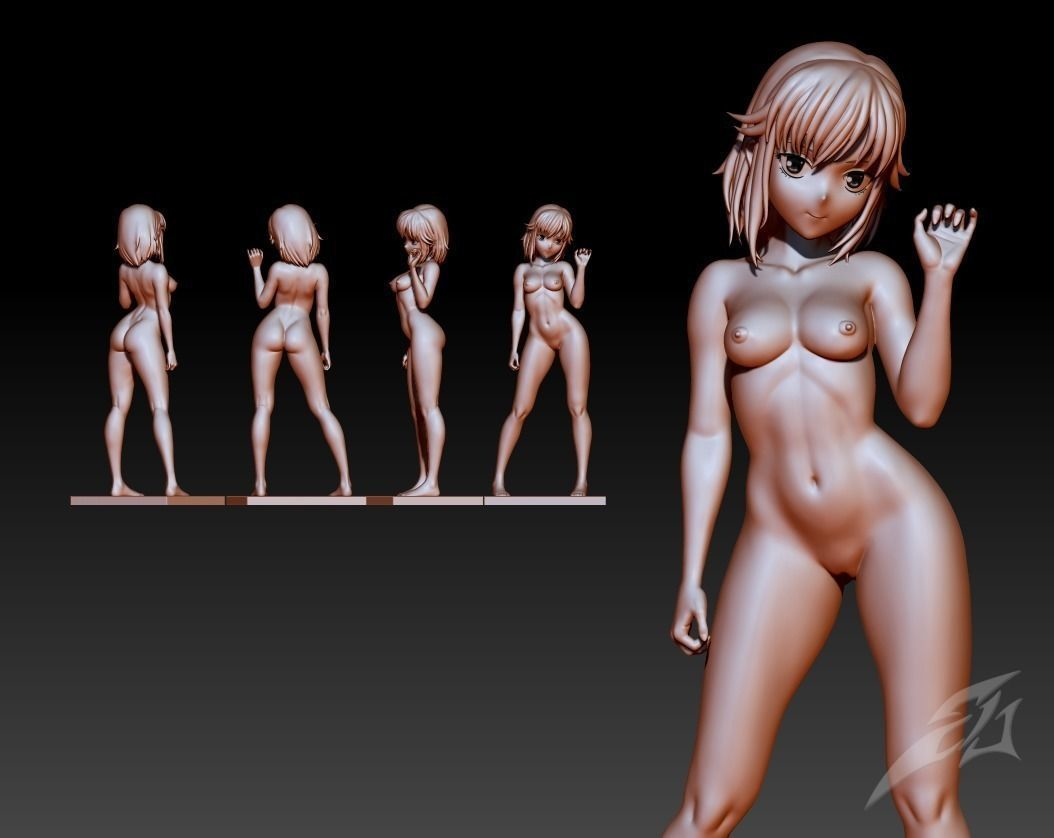 3d Printed Anime Sexy Girl By Seberdra Pinshape