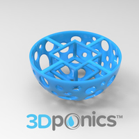 Small Grow Media Basket V1 - 3Dponics Drip Hydroponics 3D Printing 16962