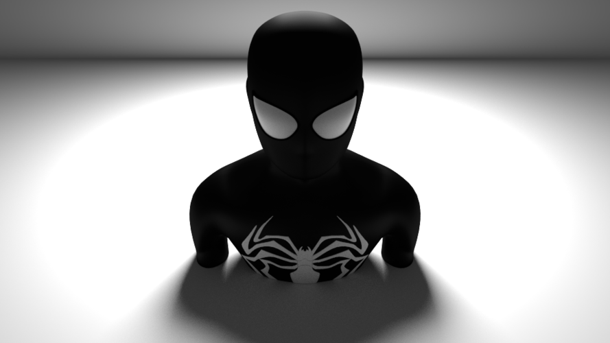 black spiderman 3D Print 169675