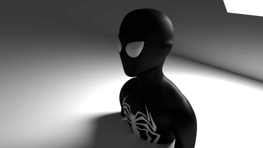 black spiderman 3D Print 169676