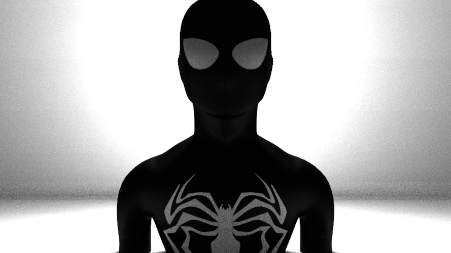 black spiderman 3D Print 169677