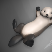 Small Sea Otter 3D Printing 169783