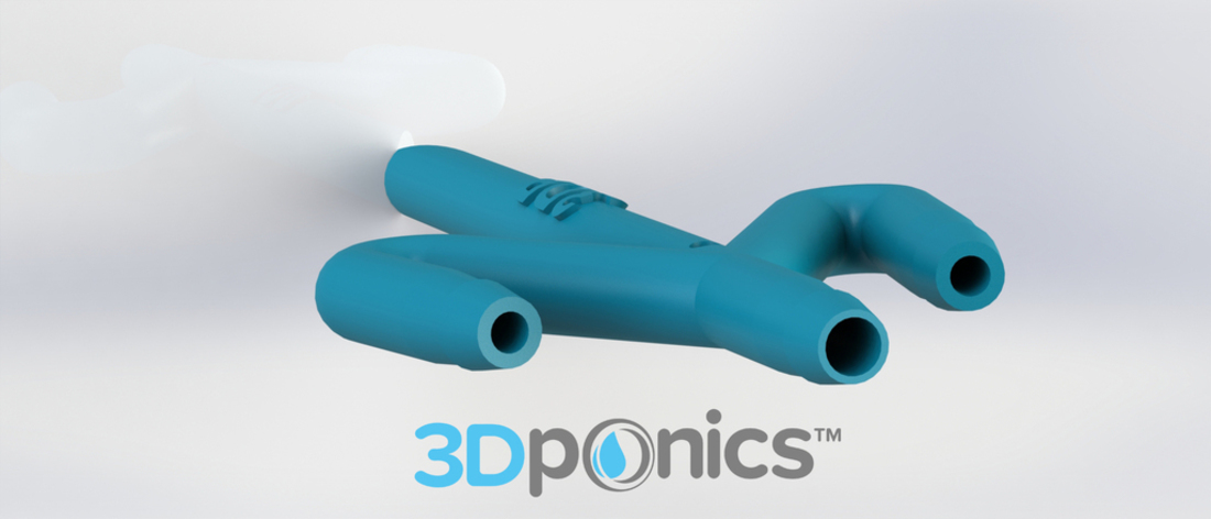 Conduit with Hole - 3Dponics Drip Hydroponics 3D Print 16991