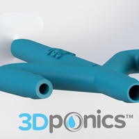Small Conduit with Hole - 3Dponics Drip Hydroponics 3D Printing 16991