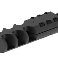 Small Airsoft SVD Dragunov muzzle brake 3D Printing 170232