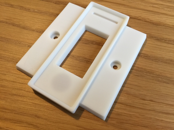Hue UK Switch Plate Cover 3D Print 170323