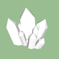 Small Crystal Cluster (Style 1) 3D Printing 170362