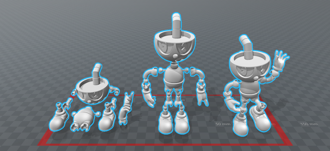 CUPHEAD - ACTION FIGURE 3D Print 170423