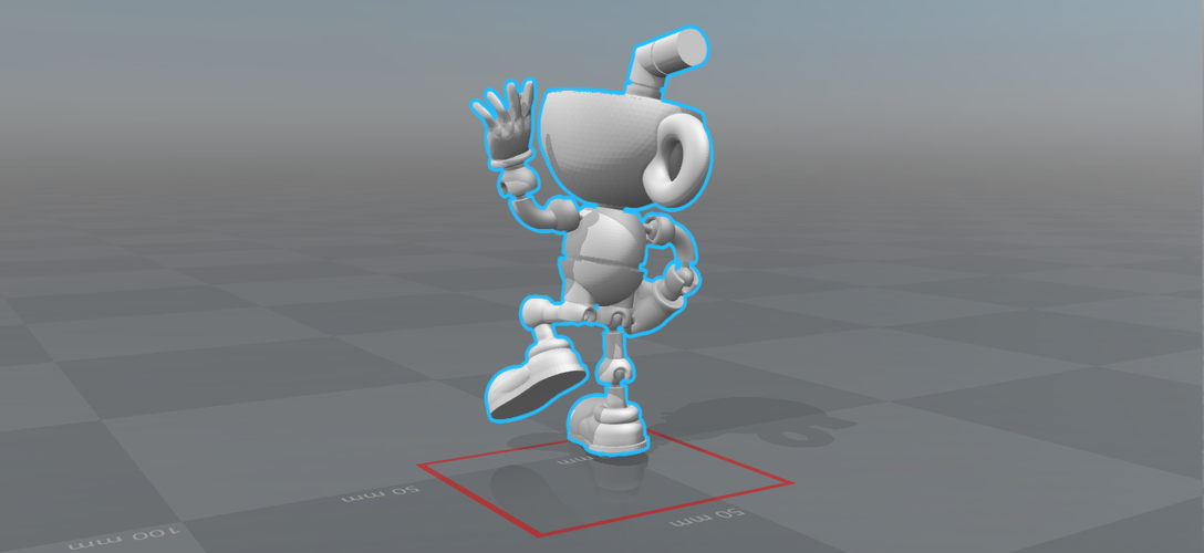 CUPHEAD - ACTION FIGURE 3D Print 170427