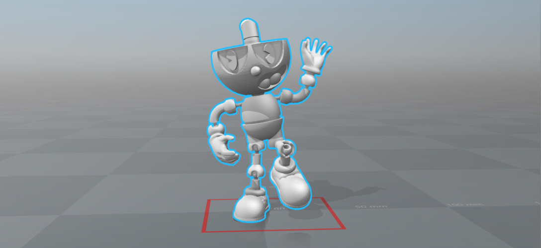 CUPHEAD - ACTION FIGURE 3D Print 170429