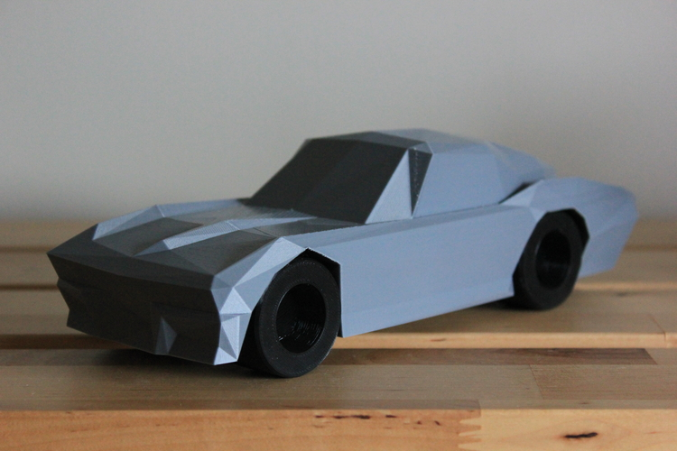 Low-Poly 1964 Stingray 3D Print 170481