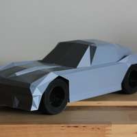 Small Low-Poly 1964 Stingray 3D Printing 170481
