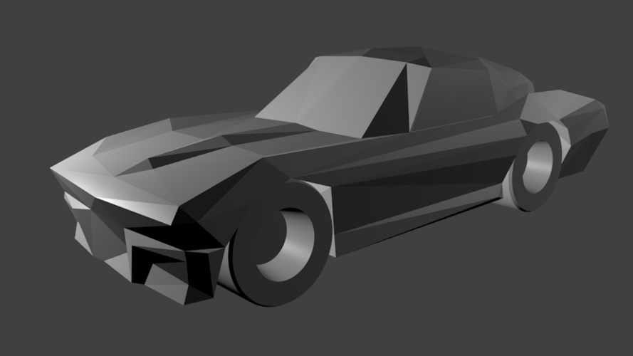 Low-Poly 1964 Stingray 3D Print 170483