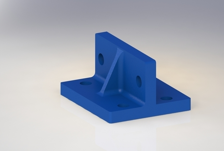 20 x 20 extrusion adapter 3D Print 170502