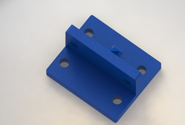 20 x 20 extrusion adapter 3D Print 170503