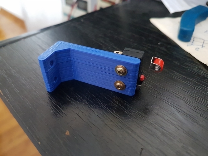 Limit switch stand 3D Print 170505