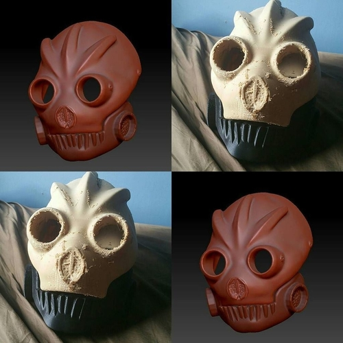 Graffiti Bot Helmet  ( Mad Max Looking Helmet ) 3D Print 170519