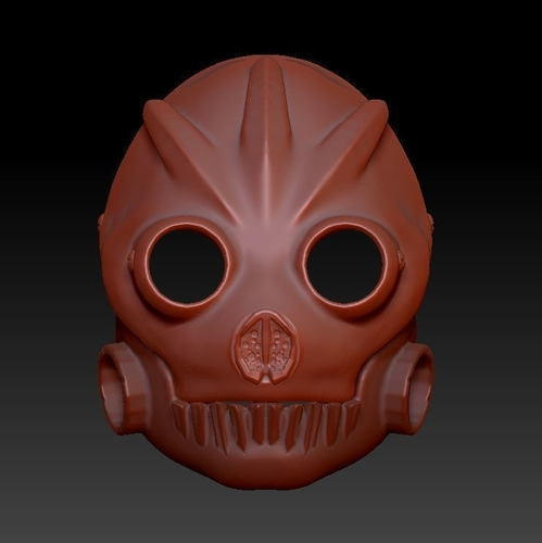 Graffiti Bot Helmet  ( Mad Max Looking Helmet ) 3D Print 170522